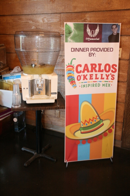 Dinner and Margaritas provided by Carlos O'Kelly's